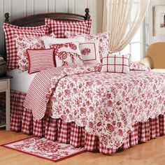 Bedding | Devon Cranberry Bedding | Atlantic Linens