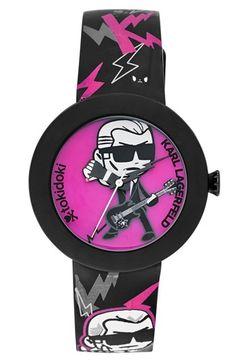 KARL LAGERFELD 'Pop Tokidoki' Graphic Silicone Strap Watch, 40mm | Nordstrom