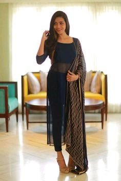 New Image : Salwar designs Dress Indian Style, Indian Fashion Dresses, Indian Outfits, Fashion Outfits, Women's Fashion, Fashion Videos, Fashion Sewing, Fashion Quotes, Indian Wear
