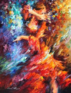 Modern Art Skilled Artist Handmade High Quality Knife Beauty Dancer Oil Paintings Dancing Lady Painting On Canvas for Home Decor(China (Mainland)) Modern Art Paintings, Paintings For Sale, Original Paintings, Oil Paintings, Painting Portraits, Leonid Afremov Paintings, Oil Painting On Canvas, Canvas Art, Knife Painting