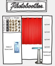 Have you been to photoboother.com? You can create vintage-looking photo booth strips from digital pictures. So fun :)
