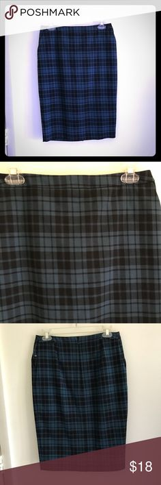 Skirt Black and blue plaid skirt from Merona. New! Please feel free to ask any questions. Merona Skirts