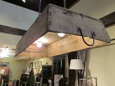 Don't forget about DIY options for dining lighting as well -though, with a rustic table I think we need a little something for lighting to pop with table