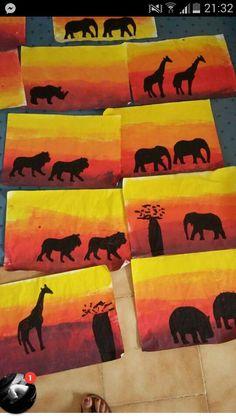 Animaux de la savane carton faits par une prof de - Animaux afrique maternelle ...
