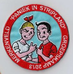 Suske en Wiske, Bob et Bobette, Willy and Wanda... What's in a name? This patch is amazing! Every youth movement should have a patch like this as a camp memory. You can simply sew or iron it on your uniform. Upload your own design on ibadge.com!