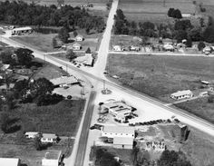 US 61 (Airline Highway) and Burnside Avenue. Gonzales Louisiana, Ascension Parish, Old Images