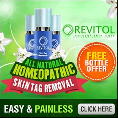 Click Here: http://beautyhealth4menwomen.com/RevitolSkinTagRemoval.php  |  The Revitol Skin Tag Remover is a homeopathic, topical remedy made from all-natural plant extracts that help eliminate those harmless skin overgrowths without any pain. Revitol's Skin Tag Remover removes skin tags the all-natural way with its special formula that contains natural plant extracts and the active ingredient Thujaoccidentalis - a pure essential oil recognized for its tag-removing properties