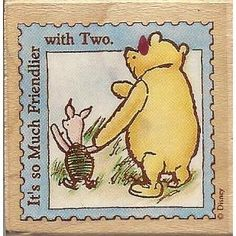 ALL NIGHT MEDIA Winnie the Pooh and Piglet Rubber Stamp