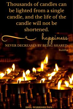 Happiness never decreases from being shared. -Buddha #HealYourselfHealtheWorld