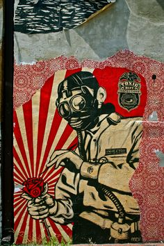 Toxicity Inspector Mural - Shepard Fairey off P Street near 14th Washington DC