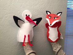 Le Renard & la Cigogne | Fables de la Fontaine fox | stork | puppet | felt 2015