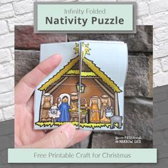 Infinity Folded Nativity Puzzle Square 2 Christmas Puzzle, Christmas Nativity Scene, Kids Christmas, New Testament Bible, Christian Crafts, Printable Crafts, Bible Crafts, Christian Parenting, Very Merry Christmas