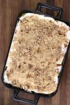 Made with Cool Whip, pudding mix, cream cheese, and other tasty ingredients, Vanilla Dessert Lasagna is a great dessert recipe for a crowd! I loved it!