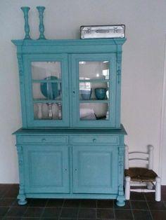 Buffetkast, kleur vintage blue