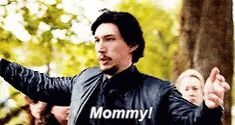 """stripperskywalker: """" kylo ren when he couldn't bring himself to shoot leia at the beginning of the last jedi """""""