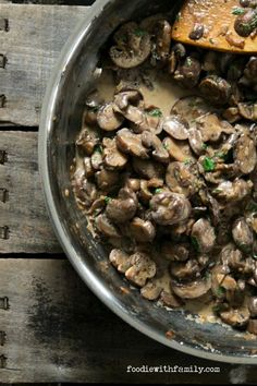 Creamy, intense Garlic Mushroom Stroganoff is a fast, fabulous winter meal from foodiewithfamily.com