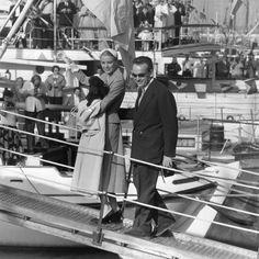 Junto a su esposo, el príncipe Reiniero de Mónaco.