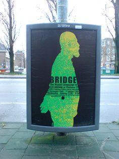poster in the city of Amsterdam: Reza Abedini
