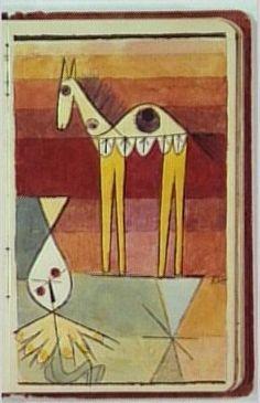 Paul Klee, Page du carnet de Nina Kandinsky, 1923-1924 - encre de chine et aquarelle sur papier - @centrepompidou