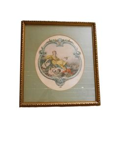 Picture Gold Gilt Decorative Framed Art Print by dabubblegumgirl