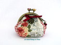 Monedero tela con boquilla buhos de La Tienda Vintage de Kima por DaWanda.com