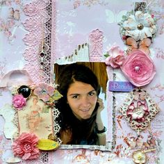 """It's Bellaidea today with my take for Debbie's challenge about flowers . """"April showers bring May flowers"""" I had a chance to . Beauty Forever, Handmade Tags, Scrapbook Pages, Scrapbooking, May Flowers, April Showers, Mixed Media, Paper Crafts, Create"""