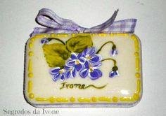 SA27- Pintura em sabonete - motivo floral