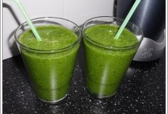 De Groene Smoothie: Spinazie met banaan en Aardbeien