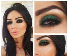 Maquillaje para ojos color café