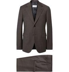 Maison Margiela Brown Slim-Fit Puppytooth Wool Suit | MR PORTER