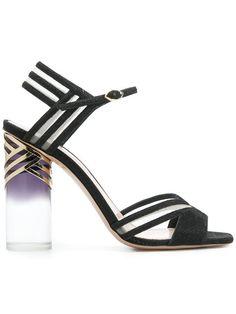 Nicholas Kirkwood Zaha Sandals In Black Latest Shoe Trends, Open Toe Shoes, Nicholas Kirkwood, Mother Of The Bride, Athletic Shoes, Designer Sandals, Shopping, Women, Black