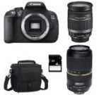 CANON EOS 700D + 18-200 IS + TAMRON 70-300 VC USD + Sac + SD 4Go Buy Camera, Canon Eos, Binoculars, Sd