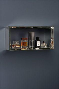 Mirrored Rectangular Wall Shelf  -Uno
