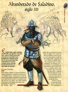 Standard Bearer for Saladin Medieval Knight, Medieval Armor, Medieval Fantasy, Military Art, Military History, High Middle Ages, Armadura Medieval, Knights Templar, Ancient History