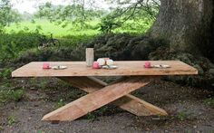 XAVI Esstisch Picnic Table, Modern, Outdoor, Furniture, Home Decor, Recyle, Dining Table, Wood, Outdoors