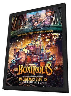 The Boxtrolls (UK) 27x40 Framed Movie Poster (2014)