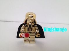 Lego-Star-Wars-CUSTOM-Darth-Vader-Chrome-GOLD-Minifigure-Limited-RARE