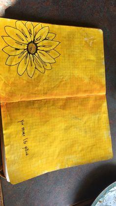 Yellow sunflowers art