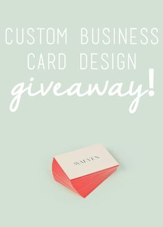 Business cards are absolutely necessary for any offline brand growth or networking, and they serve as a first impression to your brand and image. So, because the stakes are so high, we're giving you the chance to enter to win & have your cards designed for free--by a professional!