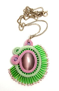 naszyjnik wisior sutasz soutache pendant necklace 28