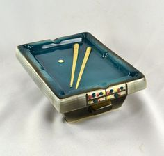 Pool Table Ashtray  Vintage Mid Century by ChicMouseVintage
