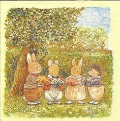 Bunnies with their Easter eggs - Foxwood Tales - Brian Patterson