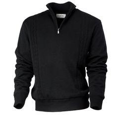 MAX - Knitwear - 1/4 Zip long sleeved men's sweater with Windproof Lining- Kartel