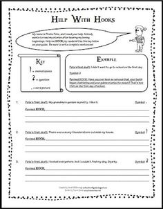 1000 images about writing hooks narrative on pinterest anchor charts writing and writing. Black Bedroom Furniture Sets. Home Design Ideas