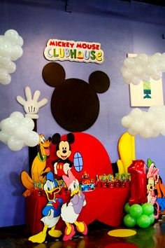 Mickey Mouse Club House Birthday Party Decor by Muñequita Mayra