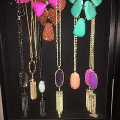 KS Collection My pieces for sale for the right offer. Kendra Scott Rayne in Gold/Magenta, Gold/Violet, Gunmetal/Crackle Mirror -- Gold/Coral Rea{SOLD} --Gunmetal/Iridescent Everly{SOLD}, Rose Gold/Peach Everly. Gold Emily with Magenta & Orange. All brand new or maybe worn once. Kendra Scott Jewelry Necklaces