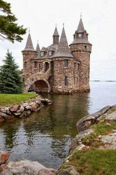 Balintore Castle, Scotland (This isn't Balintore, this is the powerhouse for Boldt Castle, Alexandria Bay, NY. Boldt Castle itself is quite a bit larger. Beautiful Castles, Beautiful Buildings, Beautiful Places, Wonderful Places, Amazing Things, Amazing Places, Scotland Castles, Scottish Castles, Scotland Uk