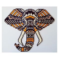 Tribal elephant hama beads by  dassommersprossenmaedchen