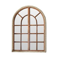 Arched Windowpane Mirror I think this would look nice in the house as there are a few arched window openings in the walls and doorways this shape in the house already