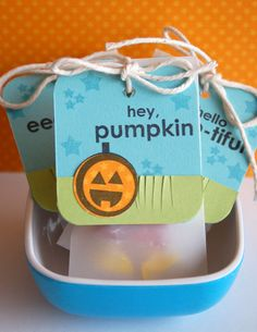 Cute treat packages for Halloween made with the Eek stamp set from TechniqueTuesday.com.